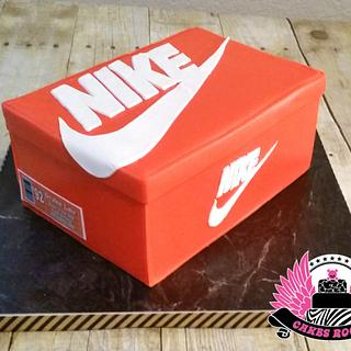Nike Shoe Box with Custom Label - Cake by Cakes ROCK!!!