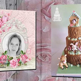 Spring is in the air 2018 Fondant Cake Topper Tutorials Sweet art collaboration.