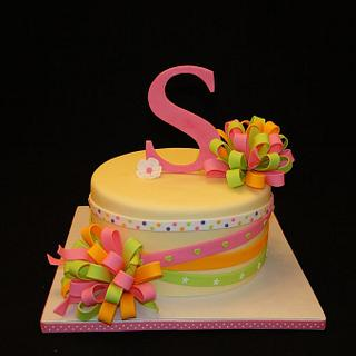 """S"" Sienna's Birthday Cake (My Daughter) - Cake by Elisa Colon"