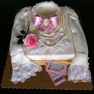 Lady's Vintage Shirt Cake