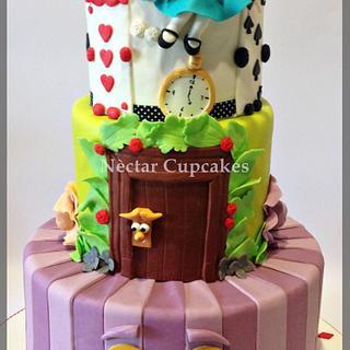 New Alice in Wonderland Cake - Cake by nectarcupcakes