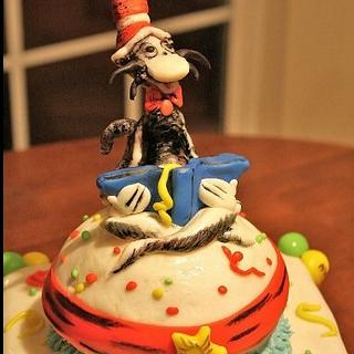 Cat in the Hat Cake for Read  Across America Day at School
