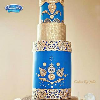 """Royal Splendor"" For- Elegant Indian Fashion Cakes Collaboration"