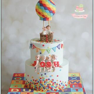 Rainbow Sheep - Cake by Jo Finlayson (Jo Takes the Cake)