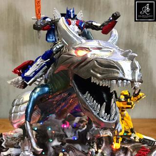 Transformers defying cake - Cake by jimmyosaka