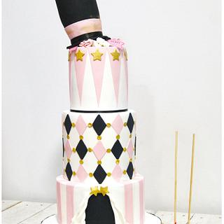 Vintage Circus First Communion Cake