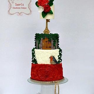 Cuties Children's Book Collaboration Cake-The Secret Garden