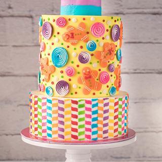 Candyland in buttercream - Cake by Krishya's Sweet Treats