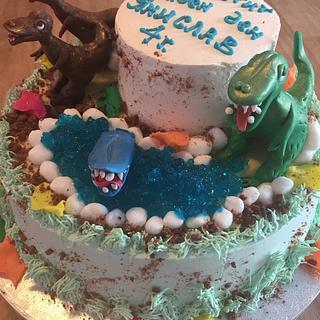 Jurassic World - Cake by Nonahomemadecakes
