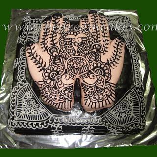 Mehendi\Henna Hands cake