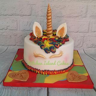 Vibrant Unicorn cake