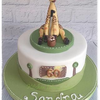 Giraffe walking cake