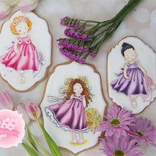 Girls of Spring Cookies 👧💐🌈