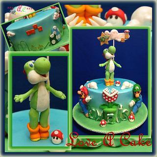 Pleasant Yoshi Birthday Cake 2 Cakes Cakesdecor Funny Birthday Cards Online Necthendildamsfinfo