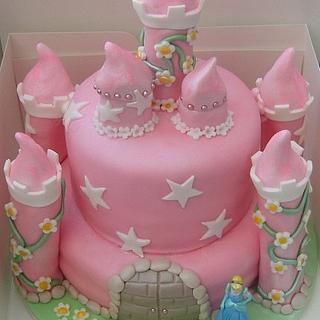 cinderella princess castle cake - Cake by sarah