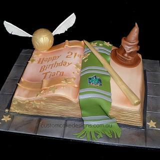 Slytherin Harry Potter Cake