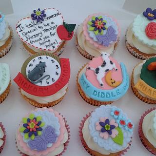 Thank you cupcakes- for Nursery Staff