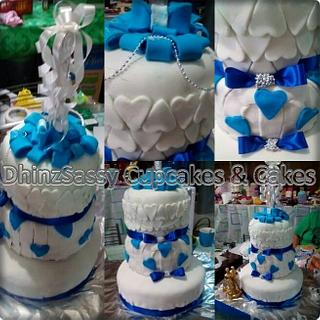 Wedding Cake Fondant - Cake by DhinzSassy Cupcakes & Cakes
