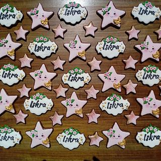 Little star gingerbread cookies