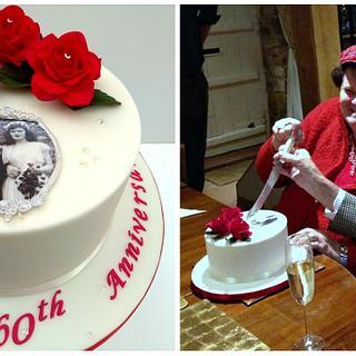Diamond Wedding Anniversary - Cake by The Rosehip Bakery