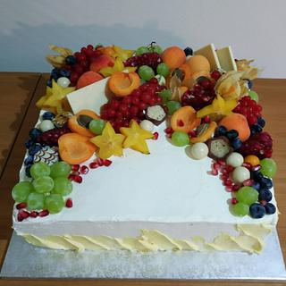 Simple fruit cake - Cake by Ellyys