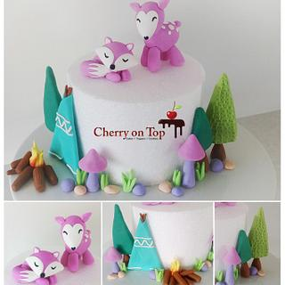Woodland cake toppers
