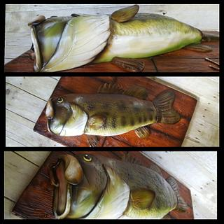 Bass fish groom's cake