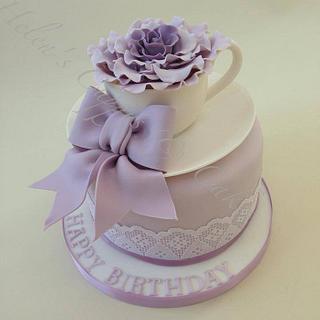 Time for Tea (Lilacs) - Cake by Helen Allsopp