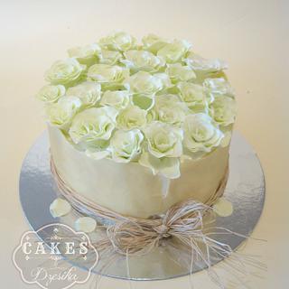 Rose cake - Cake by Dzesikine figurice i torte