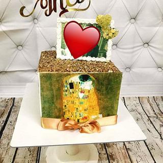 "Klimt ""Kiss"" - Cake by Princess Andjela"