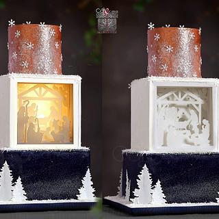 Shadow Light Nativity Cake   - Cake by Anna Mathew Vadayatt