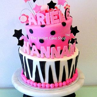 FUNKY Pink Zebra Cake!