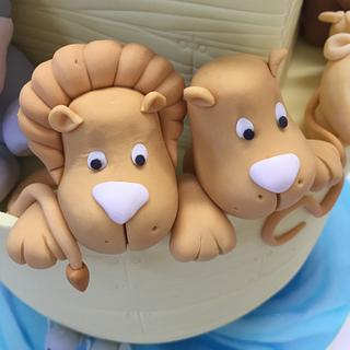Noah's Ark Baby Shower Cake - Cake by CakesAnnietime