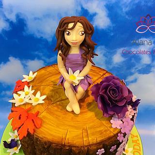 Tree fairy cake