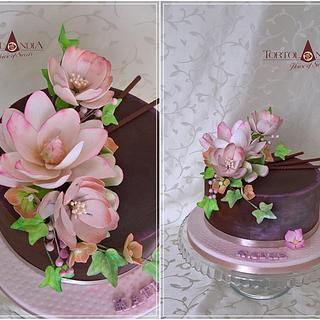 Flower cake & ganache