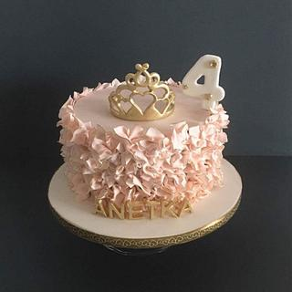 cake for 4th years old princess