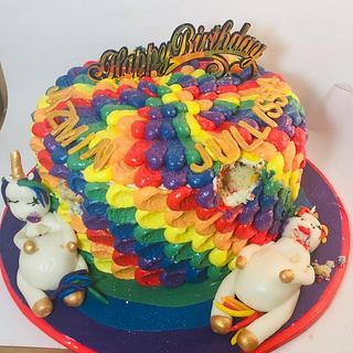 Rainbow Fat Unicorn Cake