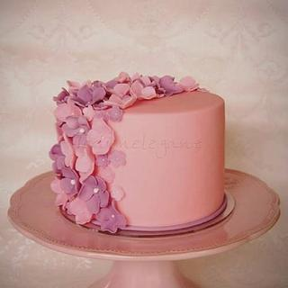 Little Pink Wedding Cake