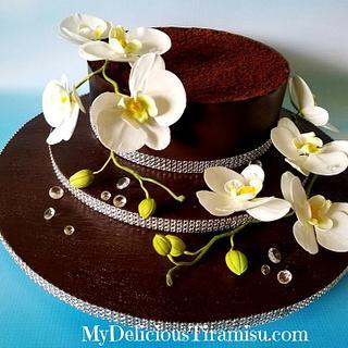 Triple Diamond Tiramisu Cake