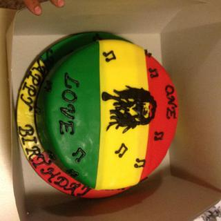 Bob Marley Birthday cake