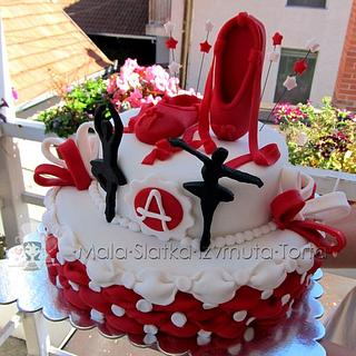 Billowing ballerina cake