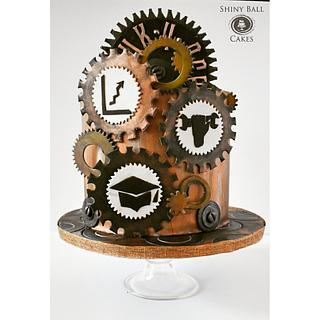Steampunk party cake - Cake by Shiny Ball Cakes & Creations (Rose)