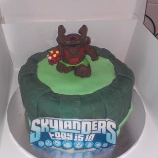Skylanders Tree Rex Cake and portal