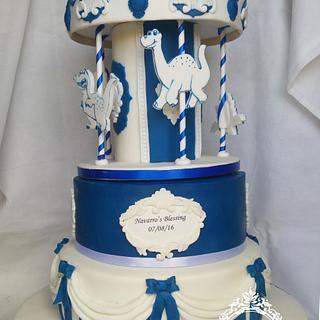 Dinosaur Carousel Cake