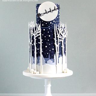 'White Christmas' Christmas Cake