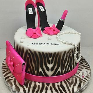 Zebra, stiletto and make up