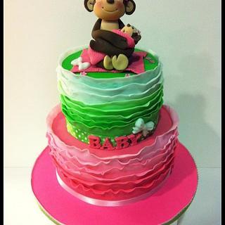 Pink & Green Mommy Monkey