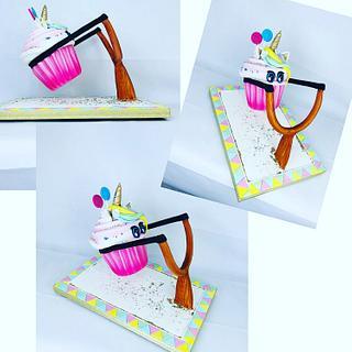 Cupcakes unicorn gravity