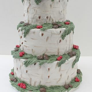 Christmas Wreath Wedding Cake