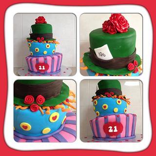 Mad hatters 21st cake - Cake by CakesbyCorrina